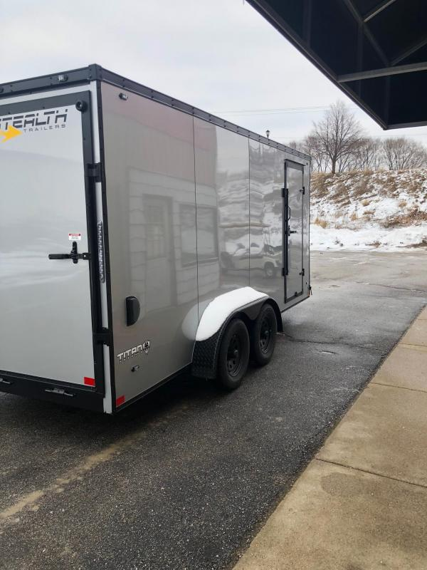 2020 Stealth Titan 7X16 7K GVWR Blackout Cargo Trailer