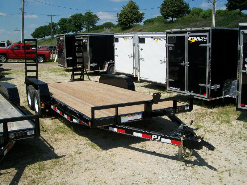 "2019 PJ CE 83""X18' 10K GVWR Open Car Trailer"