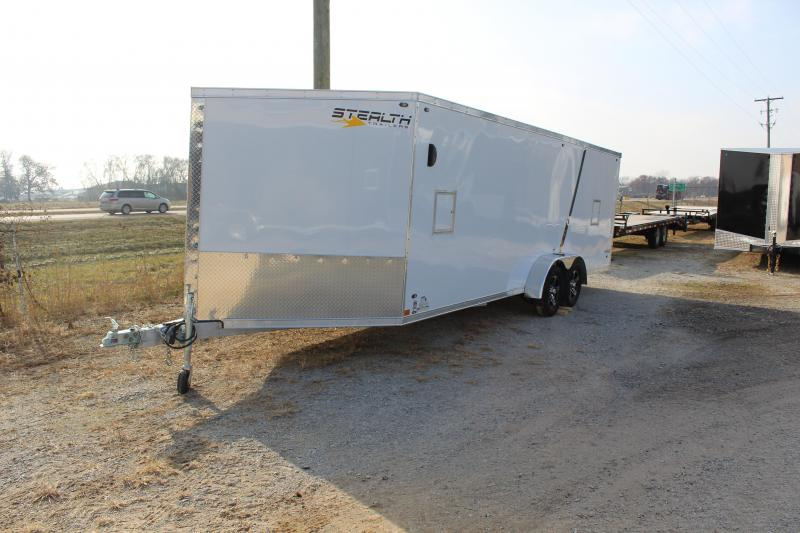 2019 Stealth Predator 7X27 7K GVWR Snowmobile Trailer