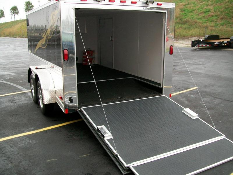 2019 Continental Cargo V-Low 7X12 7K GVWRMotorcycle Trailer