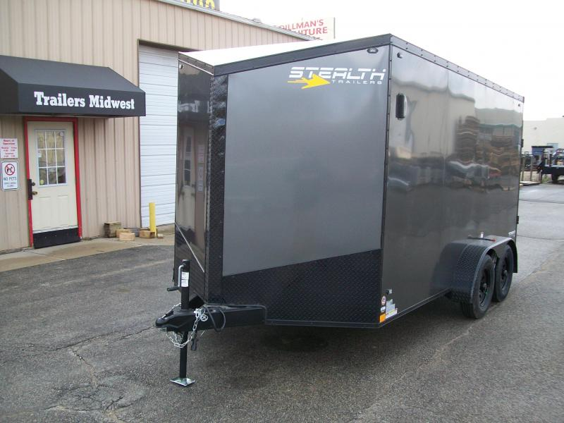 2020 Stealth Titan 7X14 7K GVWR Blackout Cargo Trailer