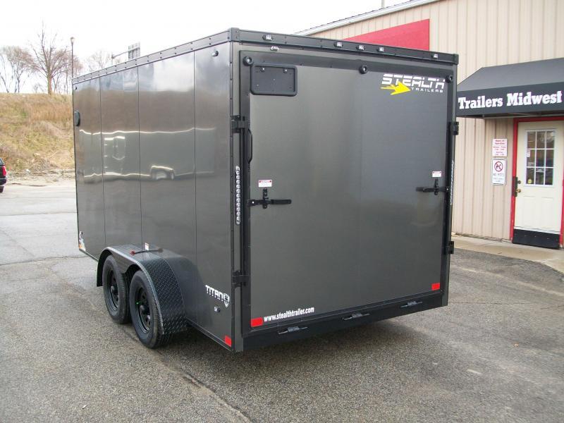2019 Stealth Titan 7X14 7K GVWR Blackout Cargo Trailer
