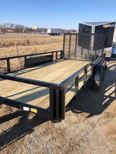 2020 Quality Steel 7X16 7K GVWR Utility Trailer