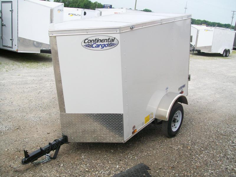 2019 Continental Cargo V-Series 4X6 Enclosed Cargo Trailer