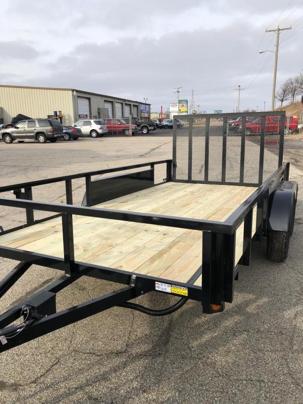 2019 Quality Steel 7X14 7K GVWR Utility Trailer