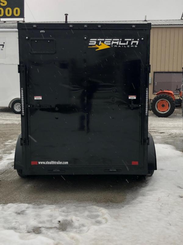 2019 Stealth Mustang 6X12 7K GVWR Blackout Cargo Trailer