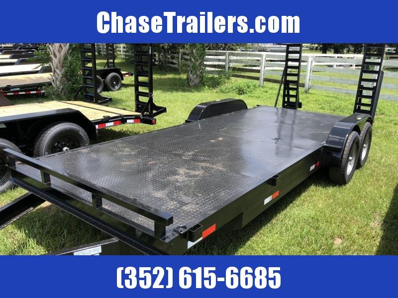 7X20 14K Steel Deck Equipment Trailer with Ramps