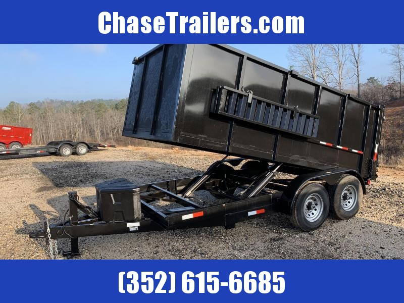 7x14x4 14K Dump Trailer 4' Sides Poly Box