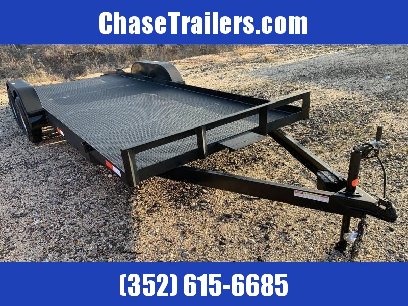 7x18 3x4 angle 7K Diamond Plate Floor Car Hauler by Stryker Trailers
