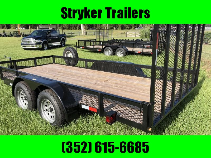 7x16 Tandem Axle 7k Utility Trailer with Gate