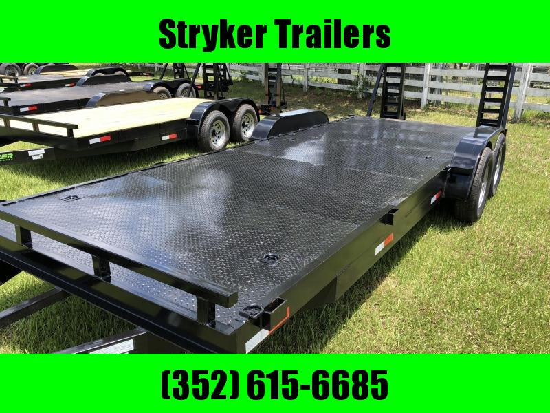 7x22 EH14K Equipment Hauler Diamond Plate Floor by Stryker Trailers