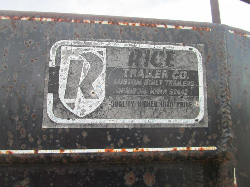 1992 Rice 25' GN Flatbed Trailer