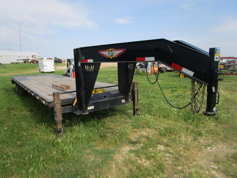 2018 H & H 30 GN Flatbed Trailer