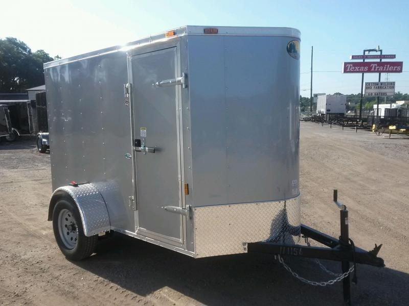 GANS58SA CARGO MATE  5 X 8 ENCLOSED CARGO TRAILER W/ REAR RAMP DOOR AND SIDE DOOR