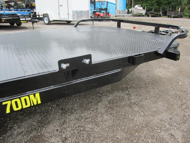 70DM-18BK BIG TEX 18' STEEL DECK CAR HAULER W/ BRAKES ON BOTH AXLES