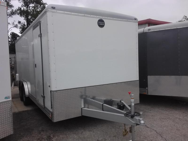 EW2024 WELLS CARGO 8X20 EXPRESS WAGON ENCLOSED CARGO TRAILER W/ CUSTOM OPTIONS