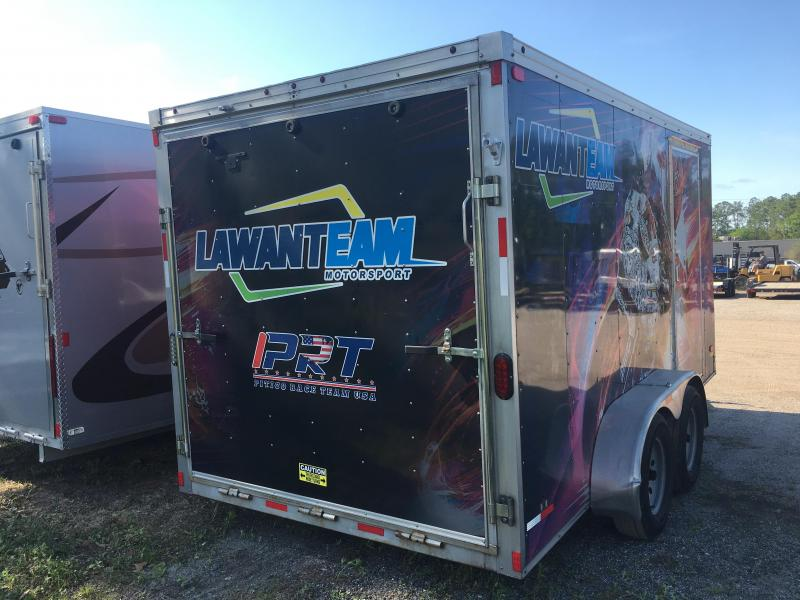 2015 WELLS CARGO 7X14 ROAD FORCE ENCLOSED CARGO TRAILER W/ AC AND INSULATION & ELECTRICAL PACKAGE