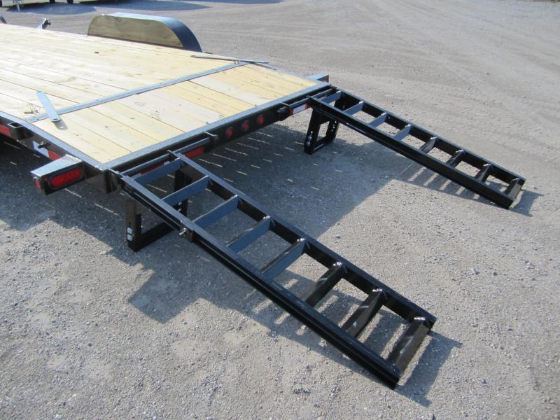10ET-20BK BIG TEX 20' TANDEM AXLE EQUIPMENT TRAILER W/ 5' RAMPS