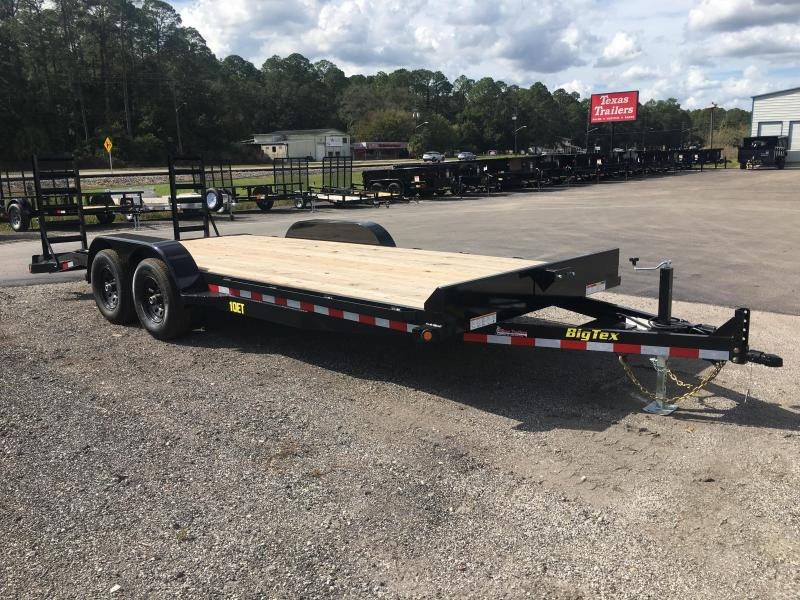 10ET-20BK BIG TEX 20' TANDEM AXLE EQUIPMENT TRAILER W/ KNEE RAMPS in Ashburn, VA