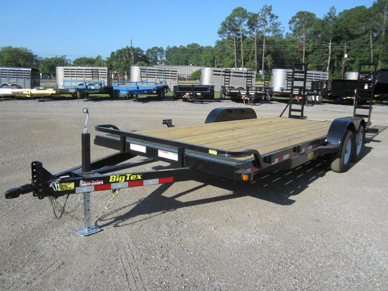 10ET-20BK BIG TEX 20' TANDEM AXLE EQUIPMENT TRAILER W/ 5' RAMPS