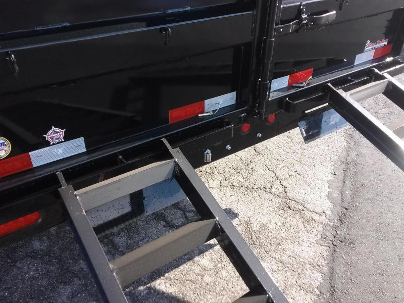 10SR-12XLBK7SIR BIG TEX 12' DUMP TRAILER W/ 7' SLIDE IN RAMPS & COMBO REAR GATE