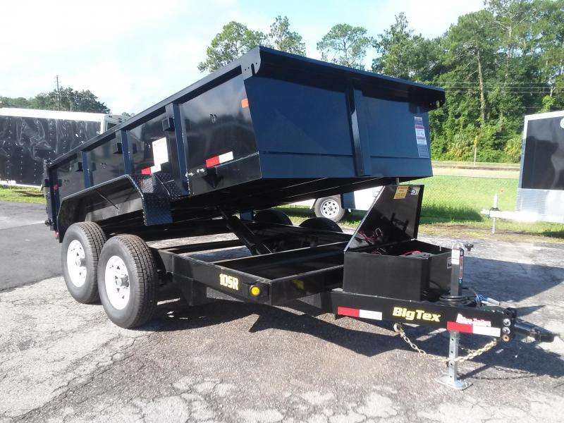10SR-12XLBK7SIR BIG TEX 12' DUMP TRAILER W/ 7' SLIDE IN RAMPS & COMBO REAR GATE in FL