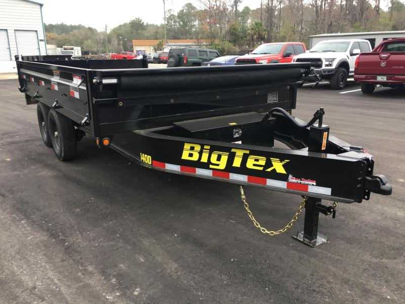 14OD-14 BIG TEX 7' X 14' OVER THE AXLE DUMP TRAILER W/ FOLD DOWN SIDES
