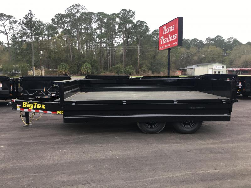 14OD-14 BIG TEX 7' X 14' OVER THE AXLE DUMP TRAILER W/ FOLD DOWN SIDES