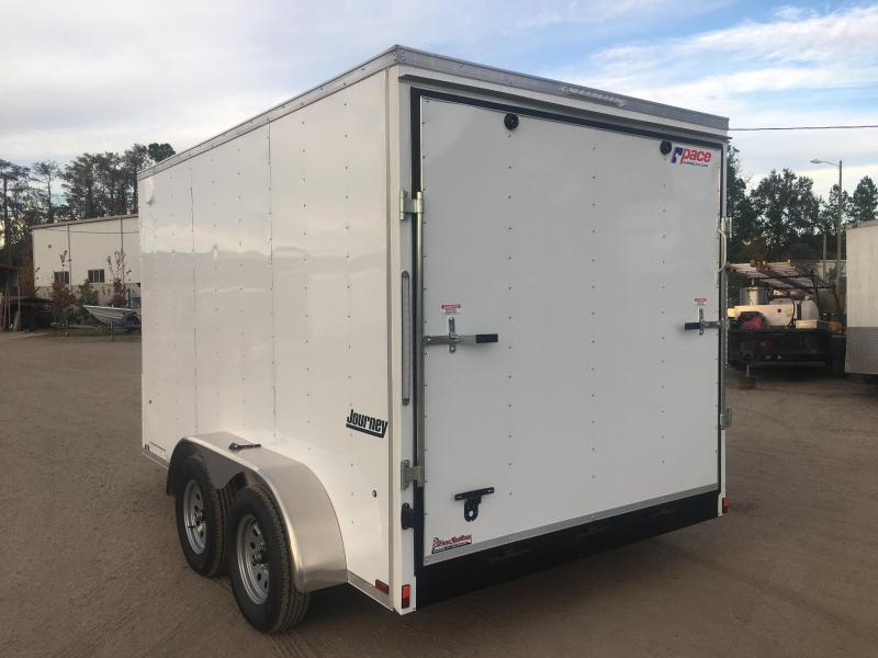 JV7X12TE2 PACE AMERICAN 7 X 12  ENCLOSED CARGO TRAILER