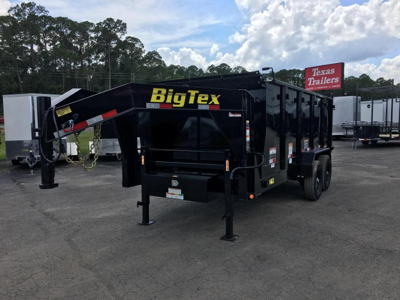 14GX-16BK-P4 BIG TEX 7' X 16' DUMP TRAILER W/ 4' SIDES in FL