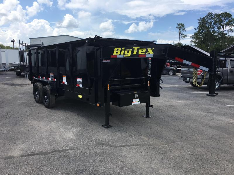 14GX-16BK-P4 BIG TEX 7' X 16' DUMP TRAILER W/ 4' SIDES