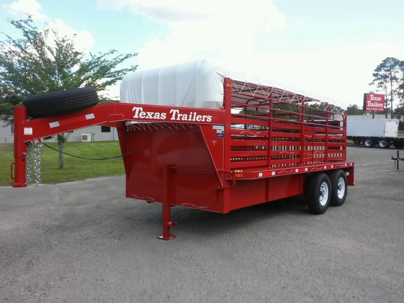 ST1612G TEXAS TRAILERS 16' GOOSENECK STOCK TRAILER W/ COLOR UPGRADE in Ashburn, VA