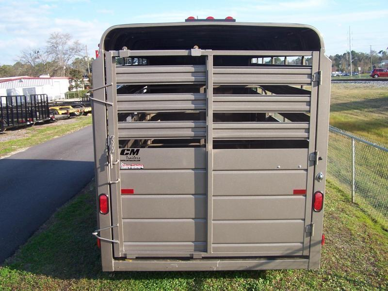 CMS6630-16 CM 6' X 16' STOCKER W/ CUT GATE AND COMBO REAR GATE W/ FULL WALK OUT ESCAPE DOOR