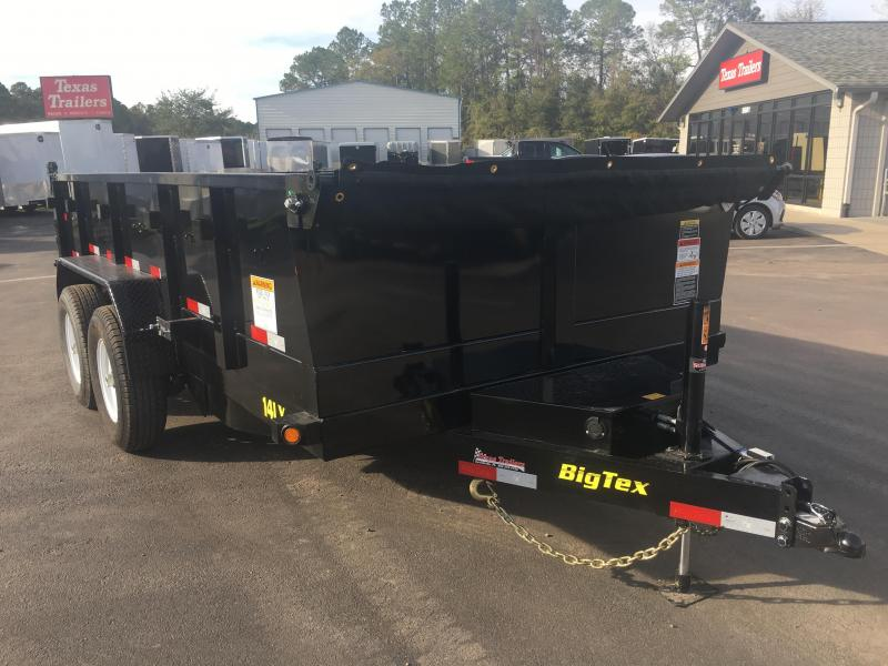 14LX-14 BIG TEX 7' X 14' DUMP TRAILER W/ HYDRAULIC JACK in FL