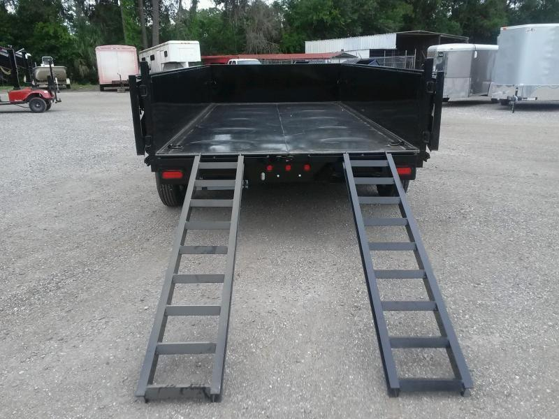 14LX-14 BIG TEX 7' X 14' DUMP TRAILER W/ HYDRAULIC JACK