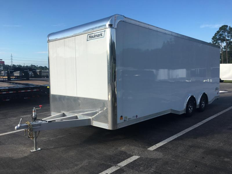 HAR85X24WT3 HAULMARK 8.5' X 24' ALUMINUM RACE ENCLOSED TRAILER