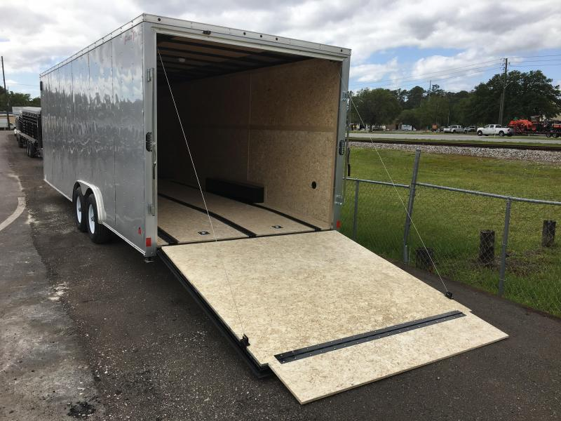 "FT85244 WELLS CARGO 8.5 X 24 ENCLOSED CARGO TRAILER W/ 12"" ADDITIONAL HEIGHT"
