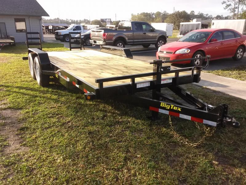 14ET-20BK-KR BIG TEX 20' TANDEM AXLE EQUIPMENT TRAILER W/ 3' KNEE RAMPS in FL