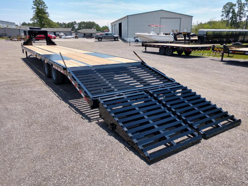 FB4024G TEXAS TRAILERS 40' GOOSENECK DECK OVER FLATBED W/ ELECTRIC