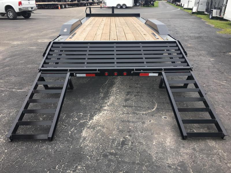 14DF-22BK BIG TEX 22' DRIVE OVER FENDERS EQUIPMENT TRAILER