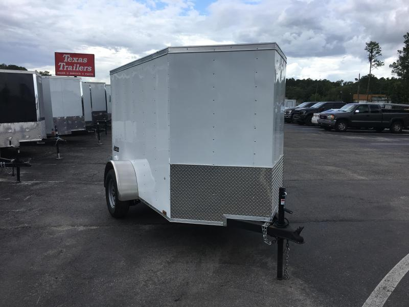 JV5X8SI2 PACE AMERICAN 5 X 8 ENCLOSED CARGO TRAILER W/ DOUBLE REAR DOORS