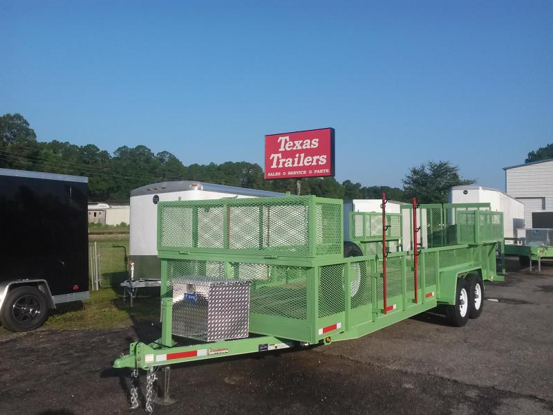 EQ2414B TEXAS TRAILERS 24' 14000# HEAVY DUTY LAWN MAINTENANCE TRAILER W/ CUSTOM OPTIONS