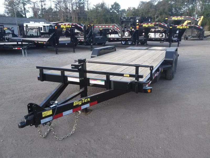 14ET-20BK-MR BIG TEX 20' TANDEM AXLE EQUIPMENT TRAILER W/ MEGA RAMPS in FL