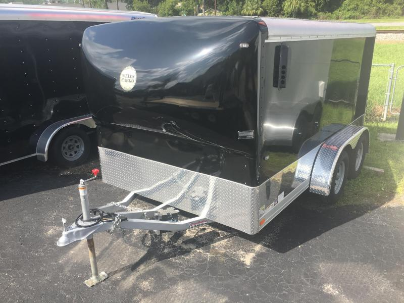 MC122-7-TE WELLS CARGO 7' X 12' MOTORCYCLE TRAILER W/ NOSE CONE