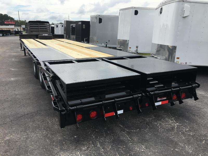 FB3020B TEXAS TRAILERS 30' BUMPER PULL DECK OVER FLATBED W/ MEGA RAMPS