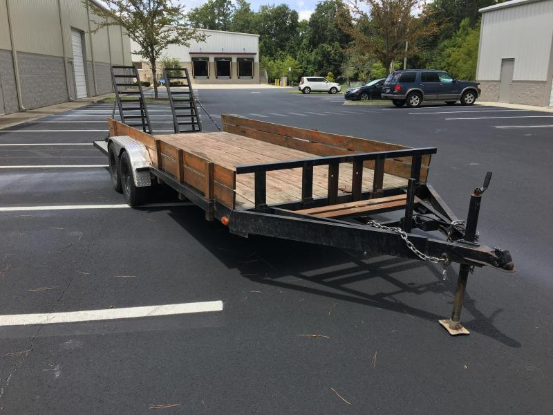 1999 (18') EQUIPMENT TRAILER W/ STAND UP RAMPS