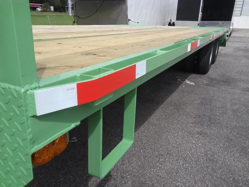 FB2520B TEXAS TRAILERS 25' BUMPER PULL DECK OVER FLATBED W/ CUSTOM OPTIONS