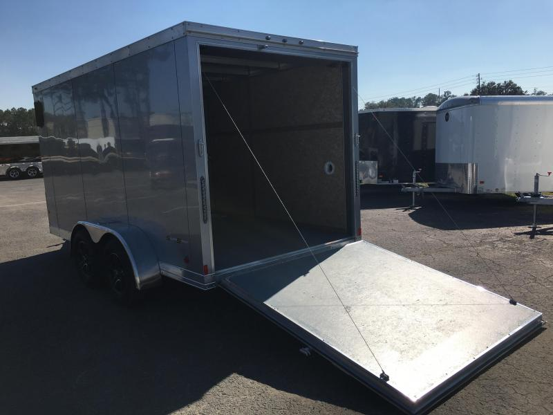 WAUV7X1422 WELLS CARGO 7X14 SILVER SPORT ALUMINUM ENCLOSED CARGO TRAILER