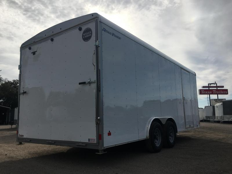 RF85X204 WELLS CARGO 8.5X20 ROAD FORCE ENCLOSED CARGO TRAILER W/ 5200# AXLES