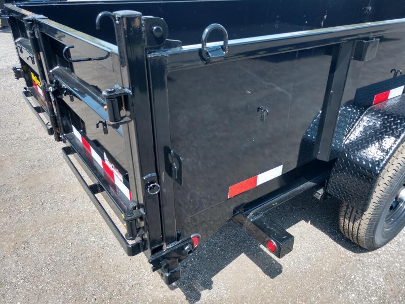 14LP-16 BIG TEX 7' X 16' DUMP TRAILER W/ TARP & COMBO REAR GATE W/ 6' SLIDE IN RAMPS